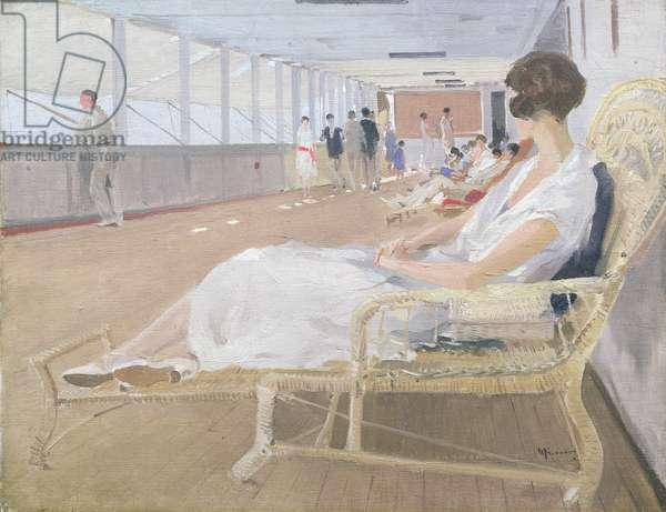 On Deck, 1925 (oil on canvas)