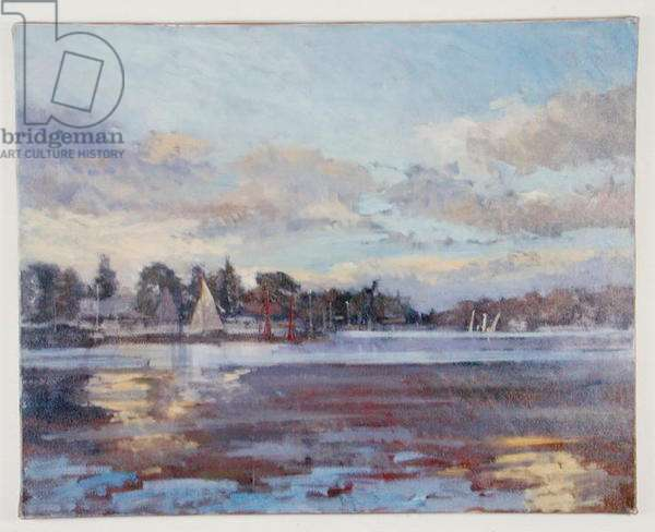 The Thames at Teddington (oil on canvas)