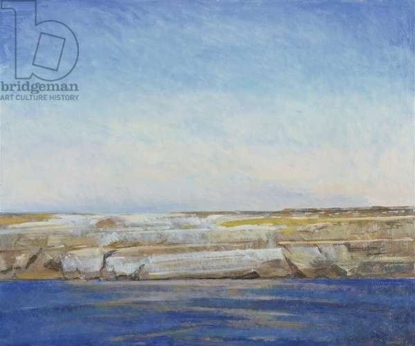 Coastline, Gozo (oil on canvas)