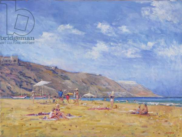 Bathers, Gozo (oil on canvas)