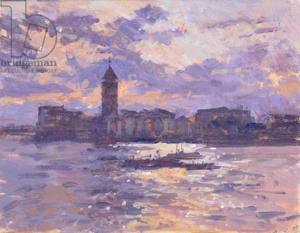 Chelsea Harbour (oil on canvas)