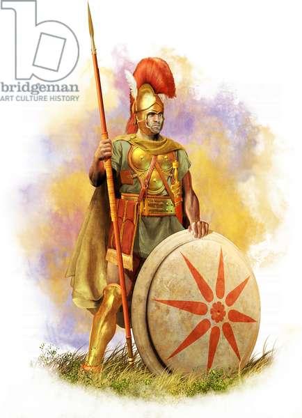Samnite Hoplite, 3rd Century BC, Ancient Italy, 2021 (digitalbrush, 3d cgi)