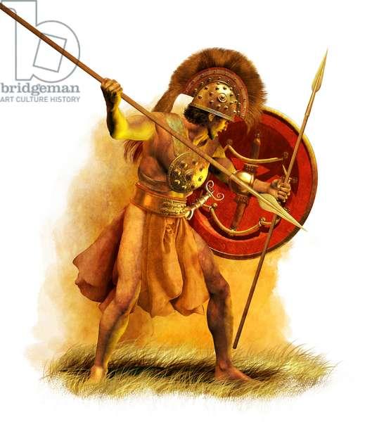 Northern Italian Hoplite, 5th Century BC, 2015 (digital brush, 3d cgi)