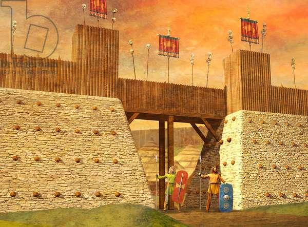 Celtic Hill, Fort Entrance, La Ten Period, 2004 (3d, cgi)