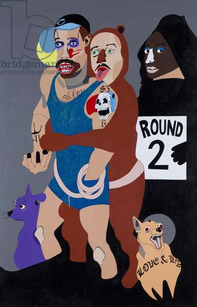 Behind Every Good Man, 2010 (acrylic on canvas)