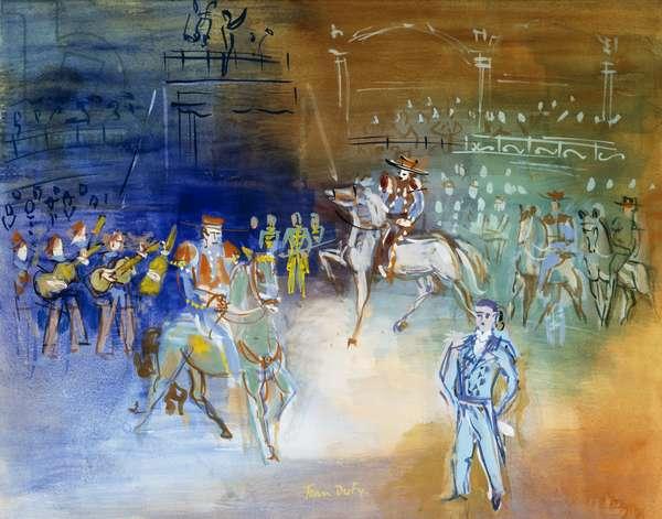 Le Cirque, (gouache on paper)