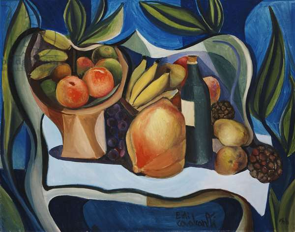 Still-life with Fruit, 1966 (oil on canvas)