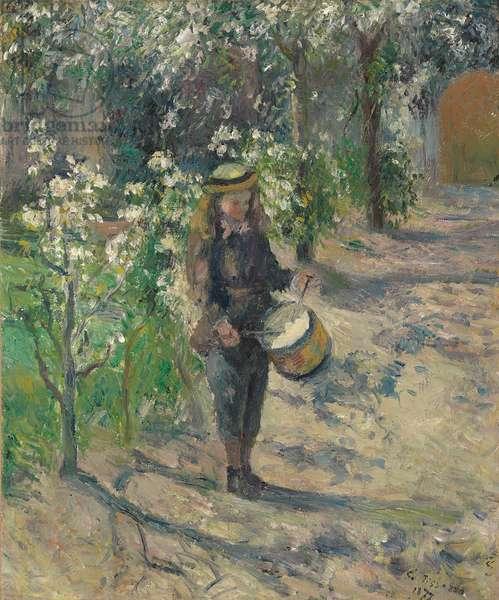 Child with a Drum; L'enfant au tambour, 1877 (oil on canvas)