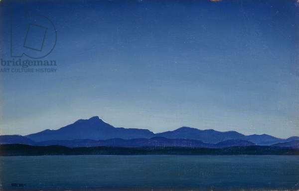 Blue Dusk, (oil on canvas)