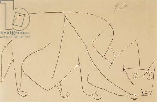 Lurking Cat; Katze Lauert, 1939 (pencil on paper)