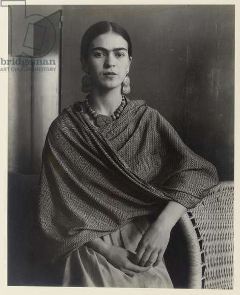 Frida Kahlo Rivera, painter and wife of Diego Rivera, 1931 (gelatin silver print, printed later)