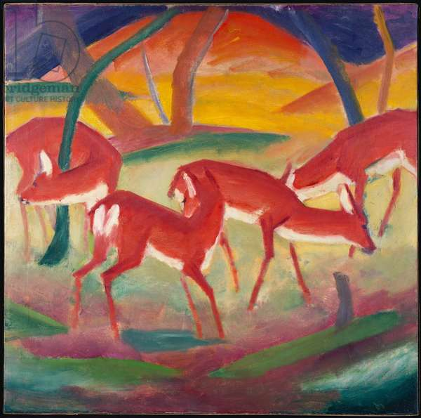 Red Deer 1, 1910 (oil on canvas)