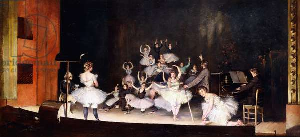Rehearsal at the Opera House; Repetition a l'Opera, 1878 (oil on canvas)