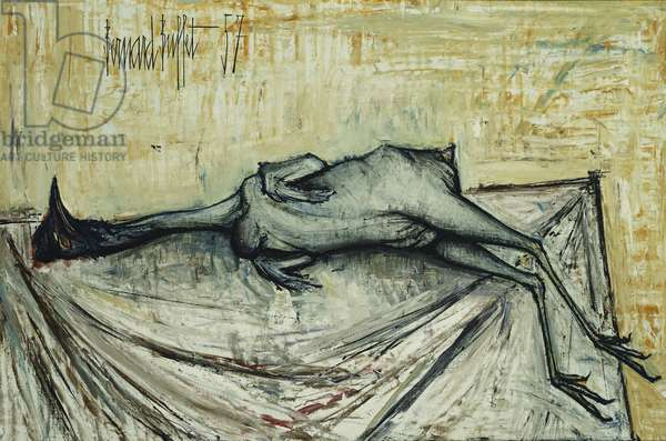 Chicken Feather; Poulet Plume, 1957 (oil on canvas)