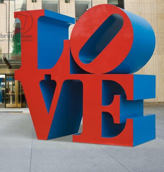 LOVE Red / Blue, 1990 (painted aluminium)