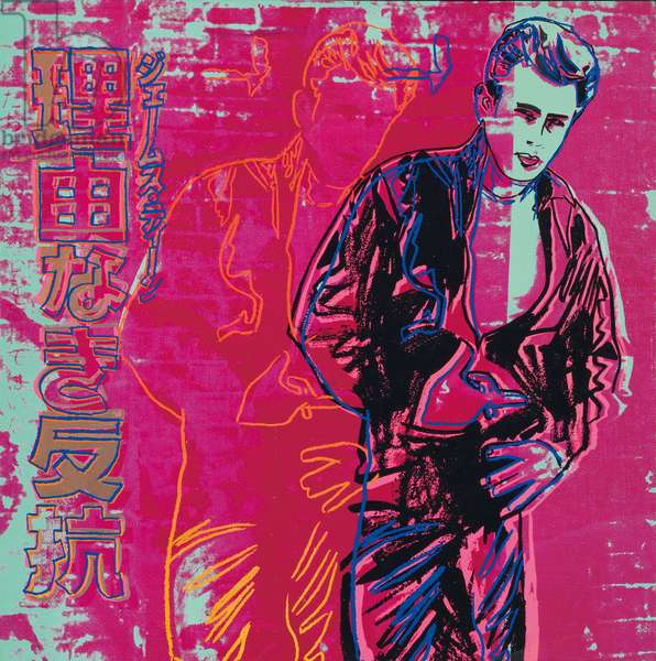 Rebel Without a Cause (James Dean), 1985 (synthetic polymer and silkscreen inks on canvas)