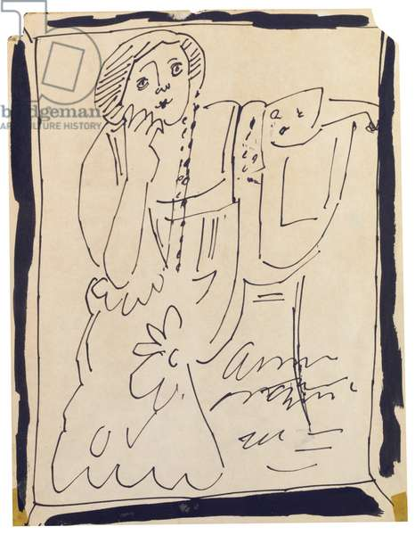 Divine Sarah, 1953 (ink on paper) (see also 745518-20)