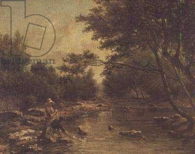River Landscape with Washerwomen
