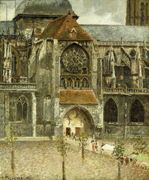 The Portal of the Church Saint-Jacques at Dieppe; Portail de l'Eglise Saint-Jacques a Dieppe, 1901 (oil on canvas)