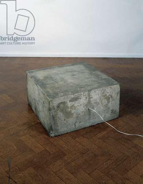 Concrete Tape Recorder Piece, 1968 (mixed media)