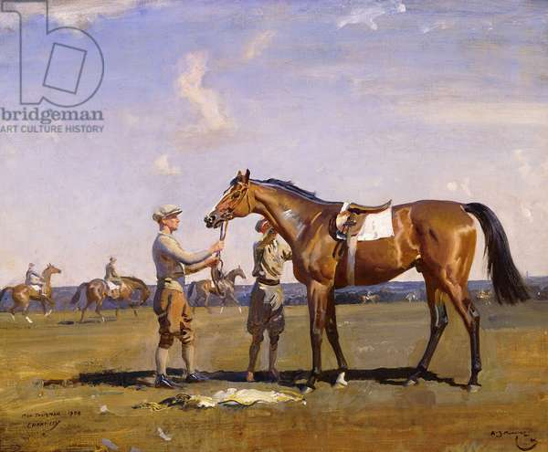 Mon Talisman, after Breezing at Chantilly, 1928 (oil on canvas)
