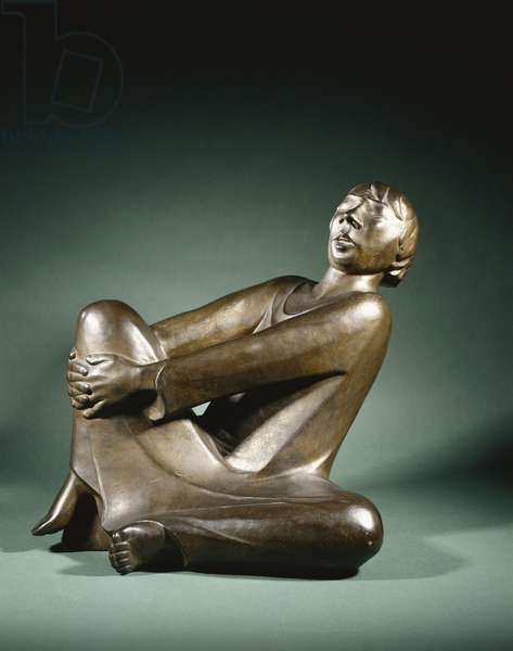 The Singing Man; Der Singende Mann, 1928 (Bronze with golden brown patina)
