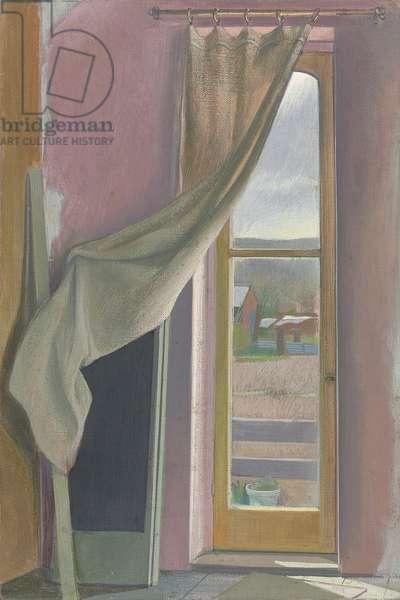Corner of Room (tempera on canvas)