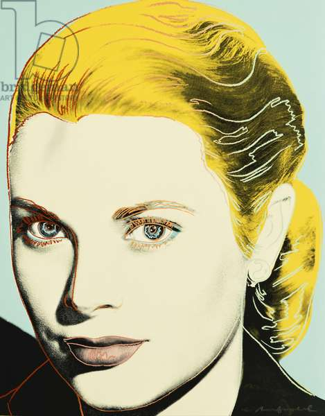 Grace Kelly, 1984 (colour screenprint)