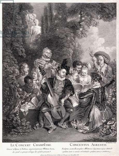 Le Concert Champetre, 1735 (engraving)