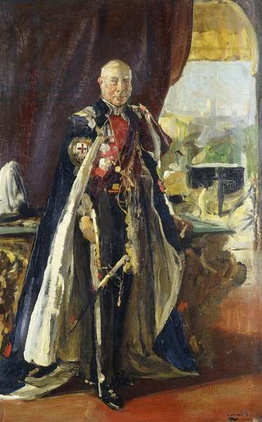 Portrait of the Earl of Lonsdale, K, 1931 (oil on panel)