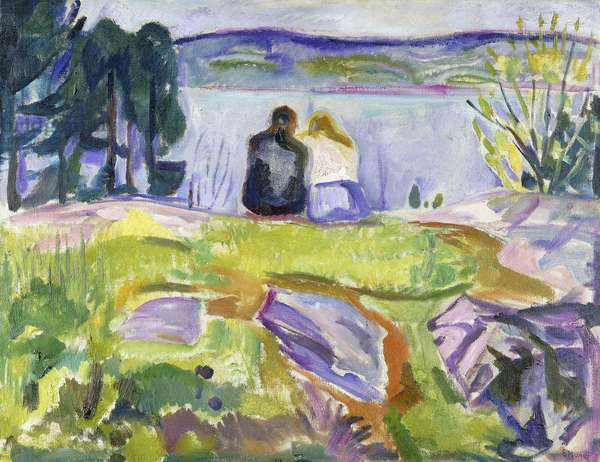 Springtime (Lovers by the shore), 1911-1913 (oil on canvas)
