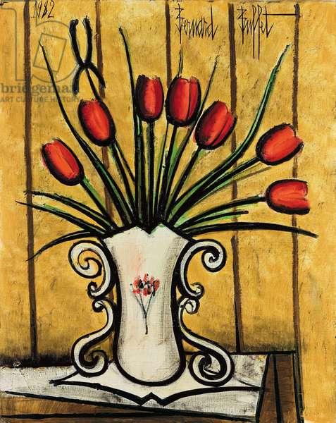 Tulips in a Vase; Tulipes dans un vase, 1982 (oil on canvas)