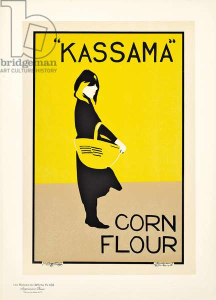 Reproduction of a poster advertising 'Kassama Corn Flour', 1895-1899 (colour lithograph)
