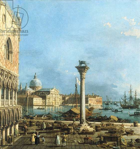 The Piazzetta, Venice, with the Bacino di S. Marco and the Isola di S. Giorgio Magiore,  (oil on canvas)