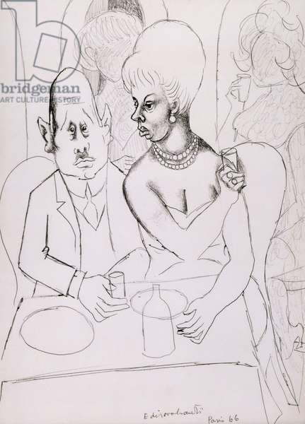 Cabaret, 1966 (pen and black ink and pencil on paper)