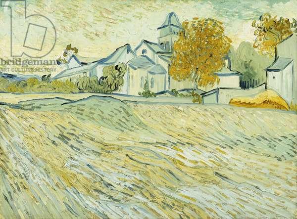 View of Asylum and Saint-Remy Chapel; Vue de l'Asile et de la Chapelle de Saint-Remy, 1889 (oil on canvas)