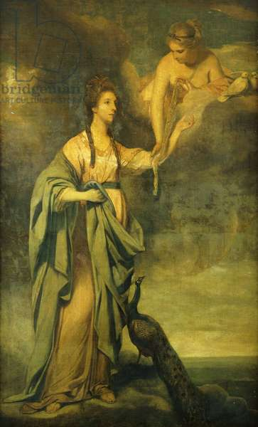 Portrait of Annabella, Lady Blake as 'Juno Receiving the Cestus from Venus', c.1769 (oil on canvas)