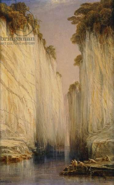 The Marble Rocks - Nerbudda Jubbulpore, 1882 (oil on canvas)