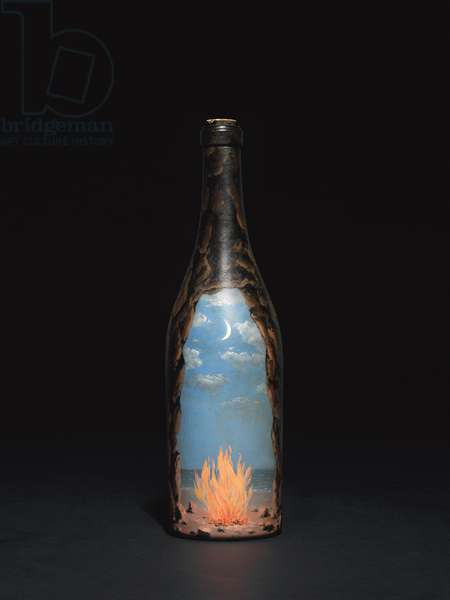 Feu-bouteille, c.1959 (oil painted glass bottle)