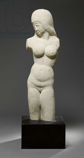Torso - Woman, 1913 (Bath stone, slate base)