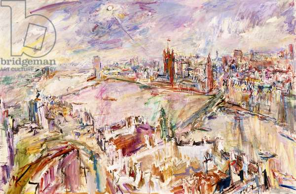 London with the Houses of Parliament, 1967 (oil on canvas)
