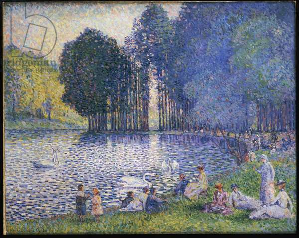 The Lake in the Bois de Boulogne, c.1899 (oil on canvas)