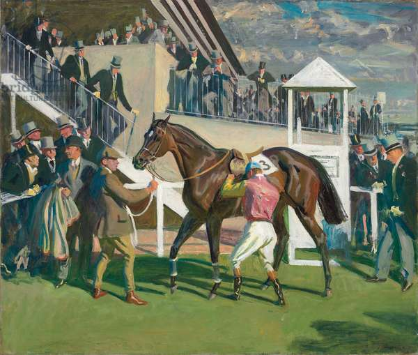 A Winner at Epsom,  (oil on canvas)