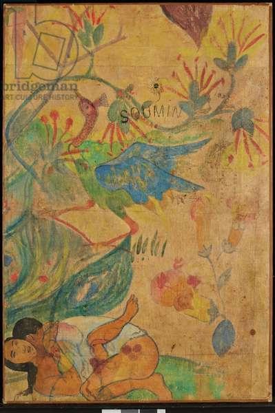 The Blue Ibis, 1892 (gouache, w/c & ink on parchment paper)