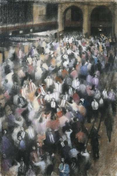 The Futures Market III, Royal Exchange, 1988 (pastel)