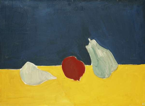 Two Pears and an Apple; Deux Poires est une Pomme, 1954 (oil on canvas)