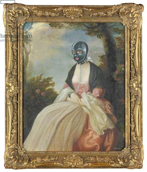 Fetish Lady, 2006 (oil on found canvas)
