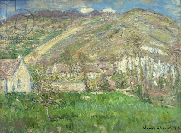 Hamlet in the Cliffs near Giverny; Hameau de Falaises pres Giverny, 1885 (oil on canvas)