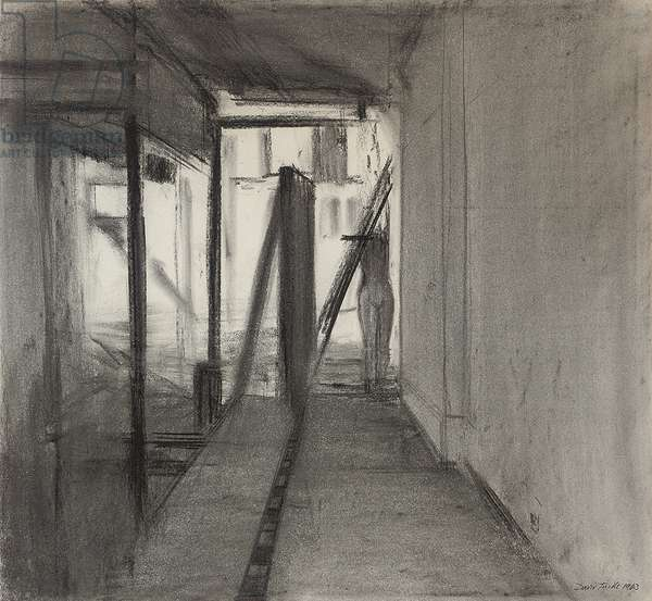Shop Dummy, 1963 (charcoal on paper)