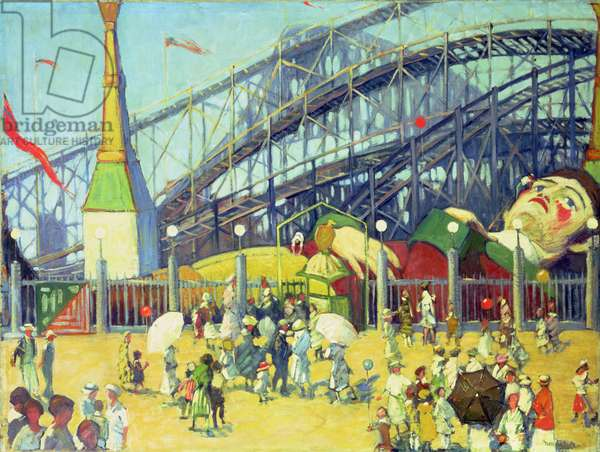 Amusement Park (oil on canvas)